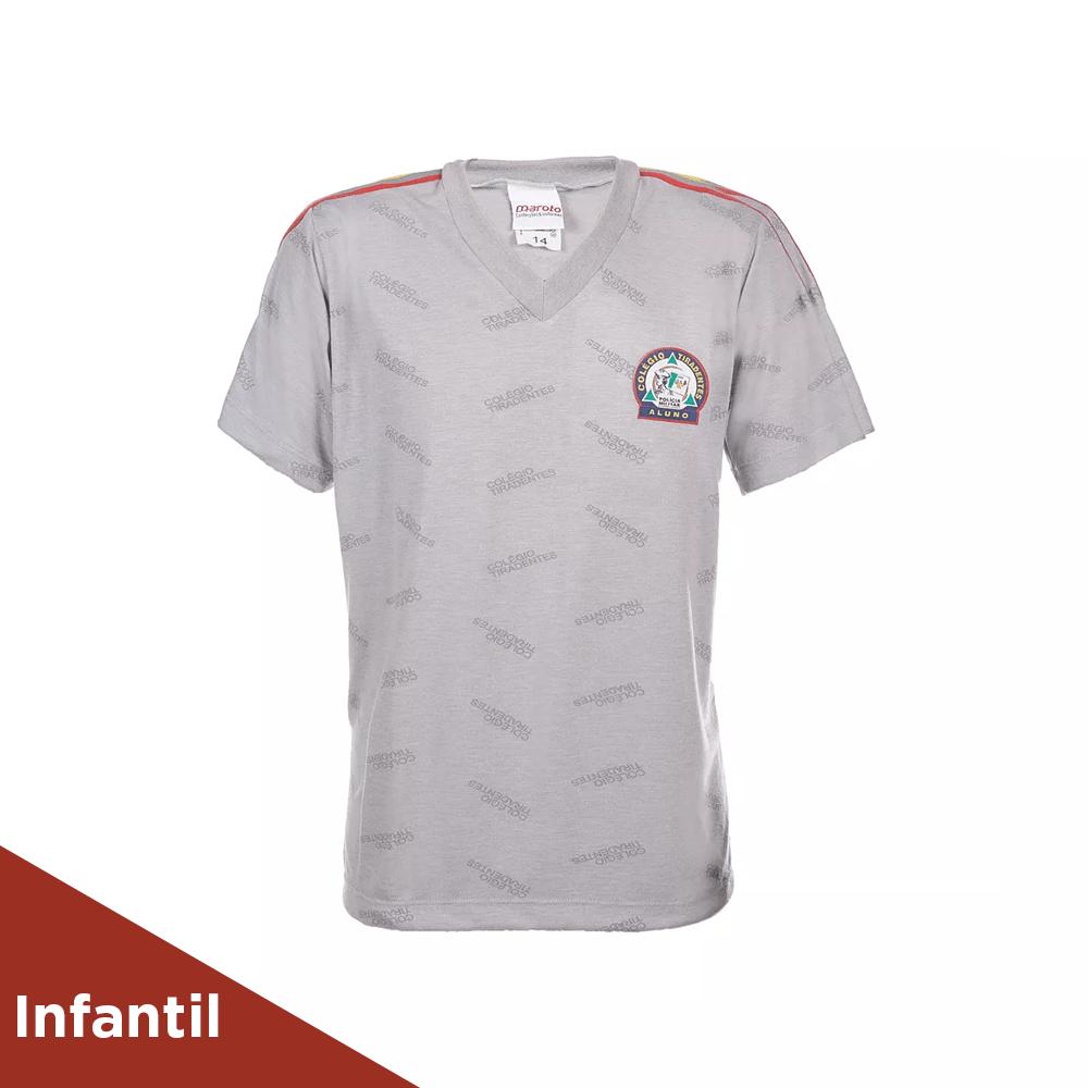 Camisa Masculina de Educação Física do Uniforme do Colégio Tiradentes -  Tamanho Infantil d0bdd62f244a0
