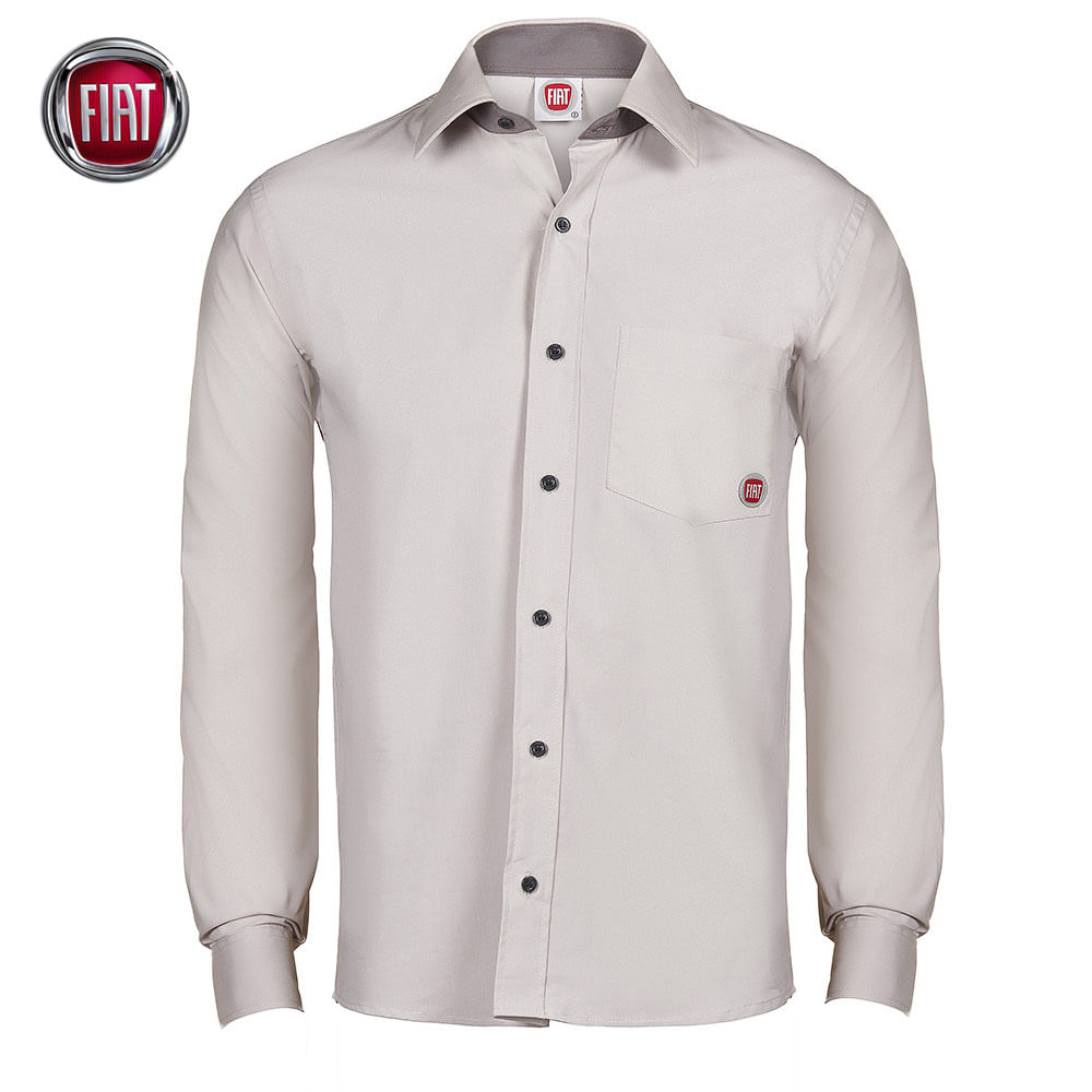 camisa-social-manga-longa-botoes-masculina-branca-fiat- ceb8226e1f340