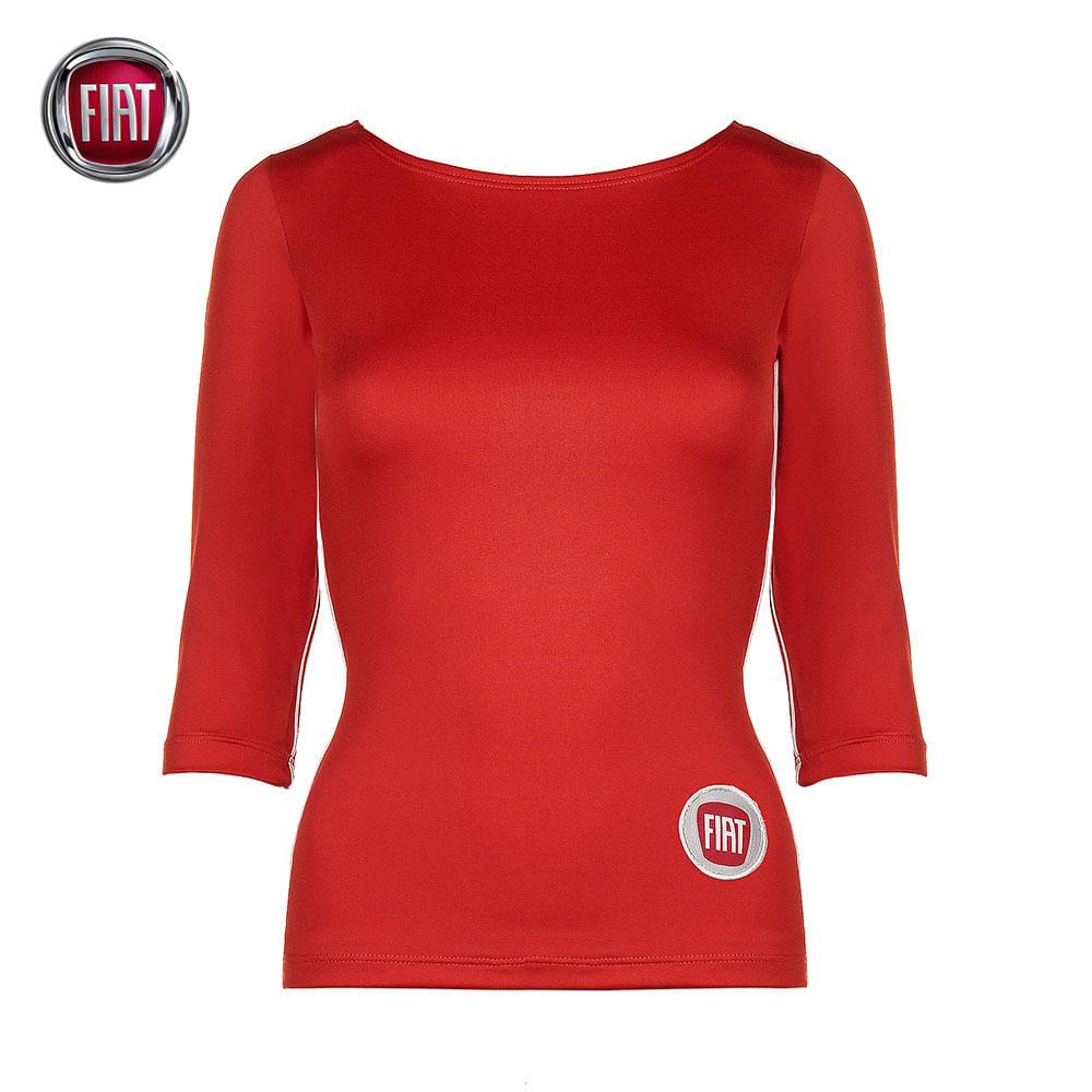 bb5d835e86 Blusa Manga 3 4 Suplex Feminino Vermelha Fiat - 4010088