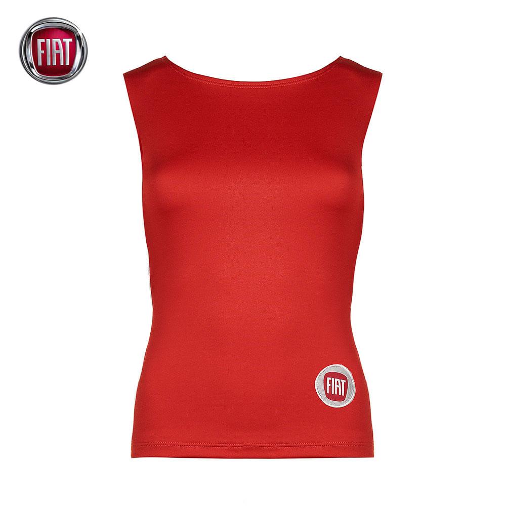 2f4acf18da Blusa Regata Suplex Feminina Vermelha Fiat - 4010104