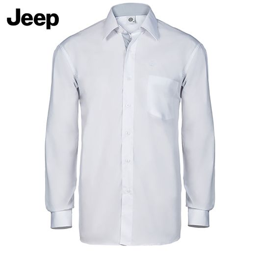 1031d044dc Camisa Social Manga Longa Masculina Jeep Branca  Cinza Jeep ...