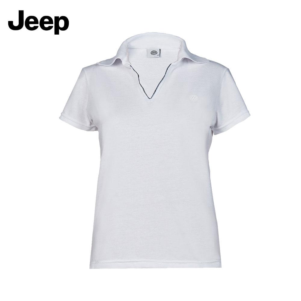 f68ee3214a Blusa Polo Feminina Branca Jeep - 18.01.0056