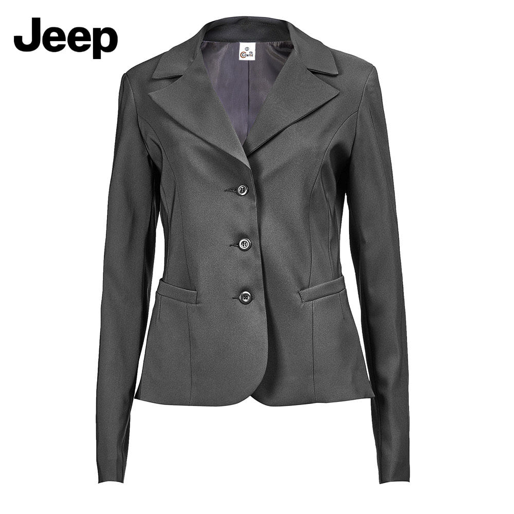 db1d4225b Blazer New Confort 3 Botões Feminino Cinza Jeep | Citerol Uniformes ...
