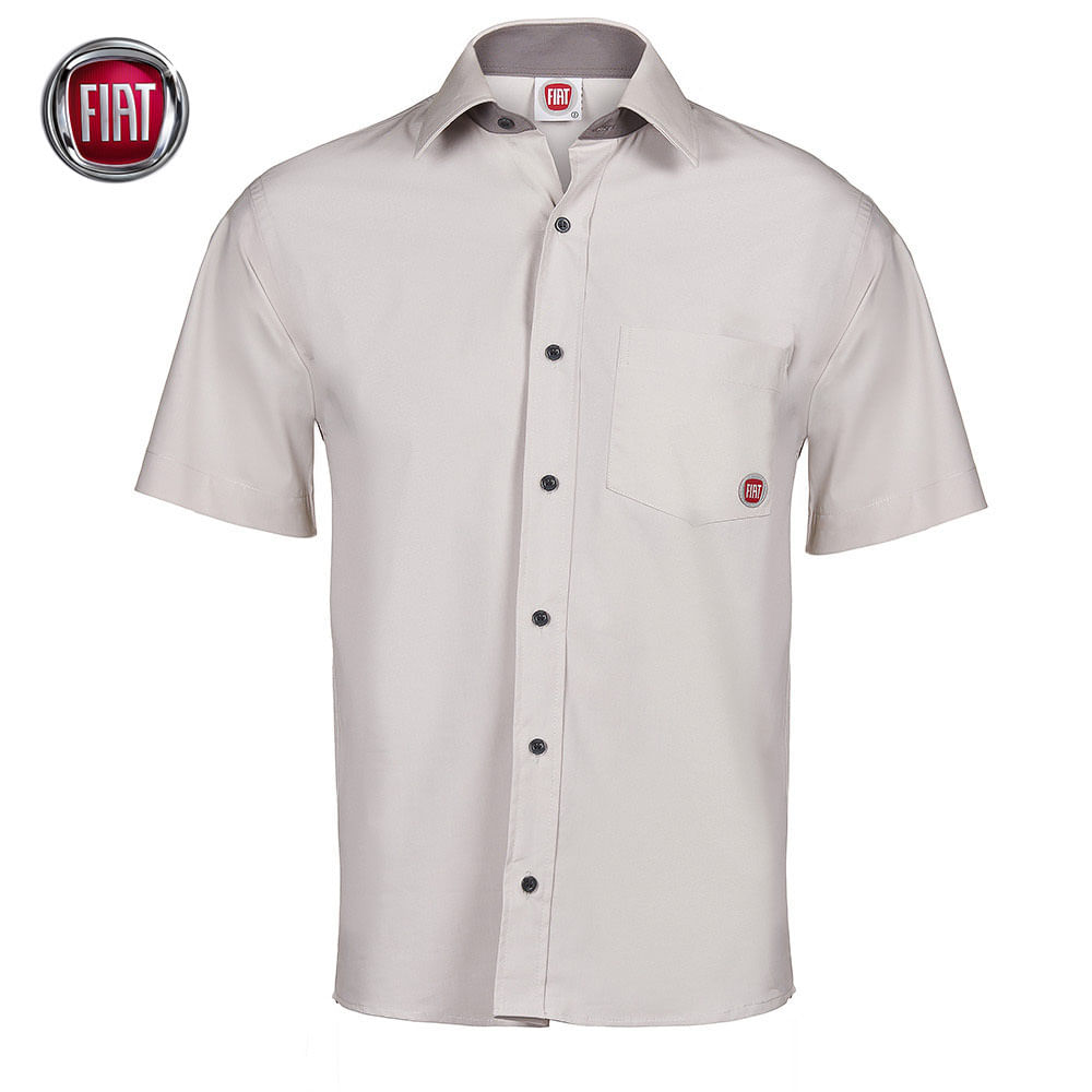 Anterior. Proxima. camisa-social-manga-curta-botoes-masculina-branca-fiat  ... 0e67e7a2d2e20